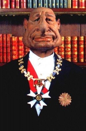 Caricature de jacques Chirac, Président de la République