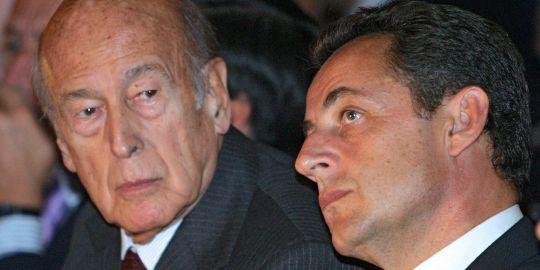 Valery Giscard d Estaing et Nicolas Sarkozy